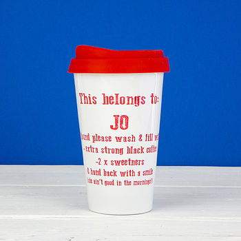 Personalised Instructions Travel Mug