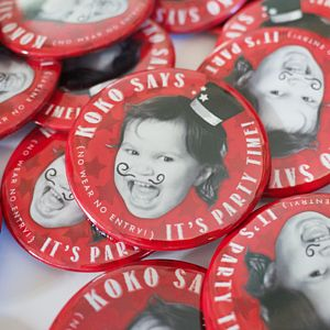 Personalised Birthday Party Badges - children's parties