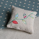 Leaf Applique Lavender Cushion