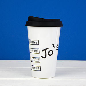 Personalised Take Out Travel Mug - crockery & chinaware