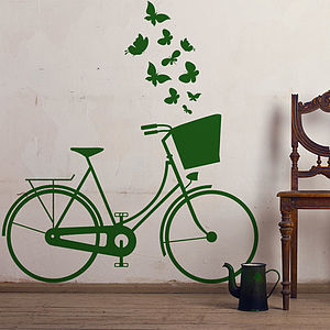 Vintage Dutch Bike Wall Sticker - wall stickers