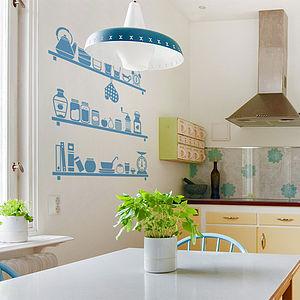 Scandinavian Kitchen Shelves Wall Sticker - wall stickers