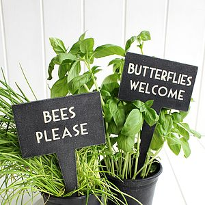 Birds & Butterfly Plant Markers - art & decorations