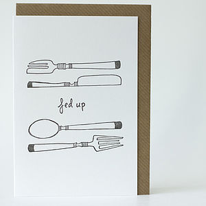 Illustrative Letterpress Card - get well soon cards