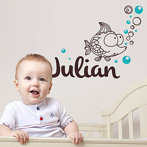 Personalised Child's Fish Wall Sticker