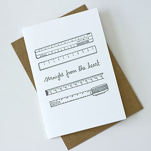 Heartfelt Ruler Letterpress Card