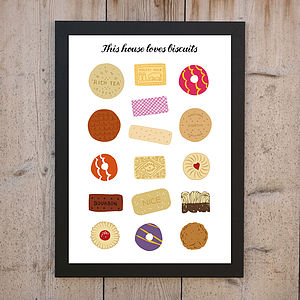 'This House Loves Biscuits' Print