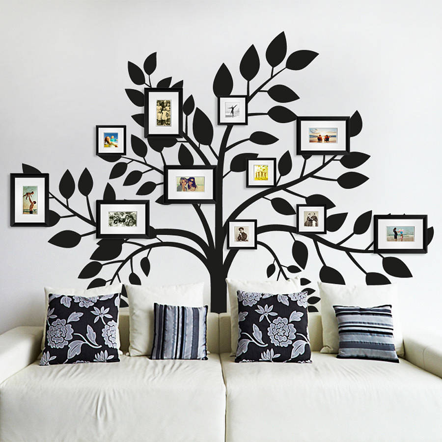family photos tree wall sticker by sirface graphics. Black Bedroom Furniture Sets. Home Design Ideas