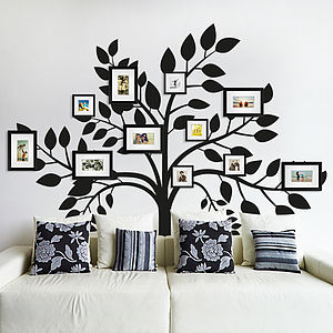 Family Photos Tree Wall Sticker - picture frames