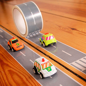 My First Autobahn/Railway Adhesive Tape - play scenes