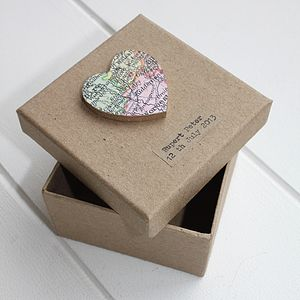 Personalised Vintage Map Memory Box - wedding favours