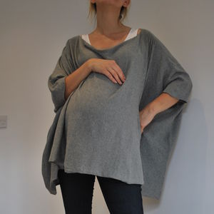 Maternity And Breastfeeding Poncho - jumpers & cardigans