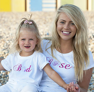 'Rose' And 'Bud' T Shirt Set - mini me collection
