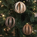 Set of 6 baubles