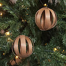 Cherry wood baubles