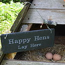 Engraved Slate Chicken Shed Sign