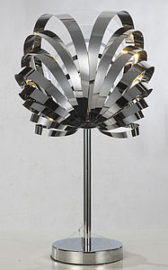 Chrome Spiral Table Lamp - bedside lamps