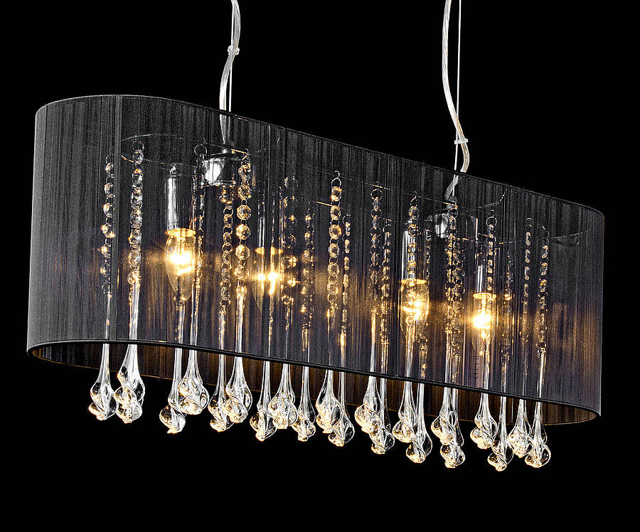 Shaded long pendant chandelier by made with love designs ltd shaded long pendant chandelier aloadofball Choice Image