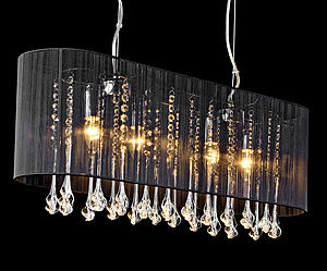 Shaded Long Pendant Chandelier - ceiling lights