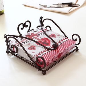 Heart Iron Napkin Holder - table linen