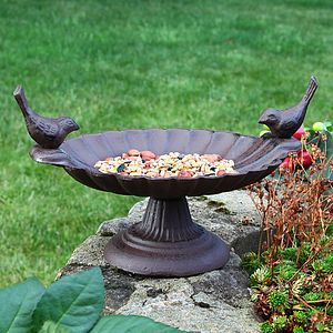 Cast Iron Bird Bath - art & decorations