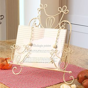 Farmhouse Iron Cook Book Stand - cake stands