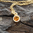 Gold And Citrine Pendant