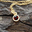 Gold And Garnet Dot Pendant