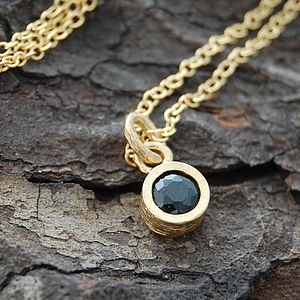Gold And Black Spinel Dot Pendant - women's jewellery