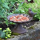 Luxury Personalised Cast Iron Bird Bath Gift