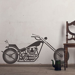 Vintage Motorcycle Wall Sticker Decal