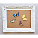 Painted Lady Wooden Butterfly Brooch