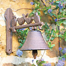 Cast Iron Bird Door Bell