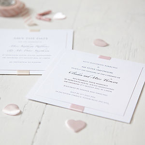 Elegance Wedding Invitation - save the date cards