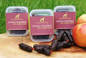 Venison Chipolatas For Dogs Triple Pack - food, feeding & treats