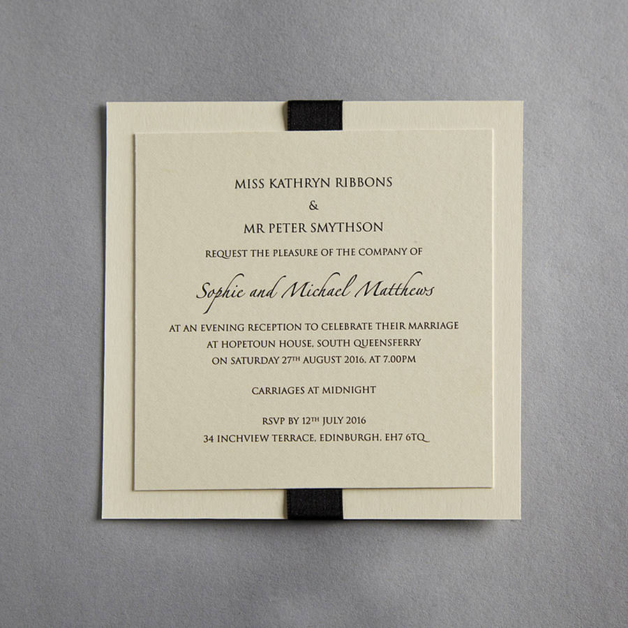 Elegance Wedding Invitation By Twenty Seven
