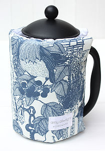 Handmade Coffee Cosy Secret Garden Print - special work anniversary gifts