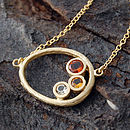 Gold Organic Citrine Necklace
