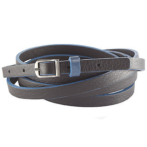 Leather Painted Edge Double Belt - belts