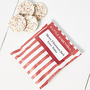 Chocolate Snowie Sweet Bag - wedding favours