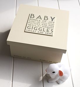 Baby Keepsake Box - gifts for babies