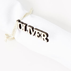 Personalised Napkin Ties - decorative letters