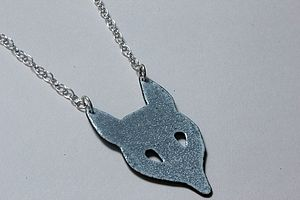 Enamel Fox Necklace