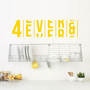 Four Ever And Ever Wall Sticker
