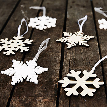 Arctic Snowflake Decorations