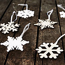 Arctic Snowflake Decorations