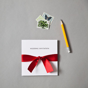Bow Wedding Invitation Set