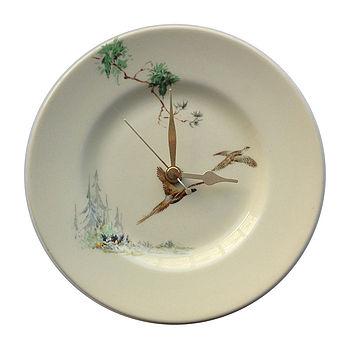 Pheasant Plate Clock