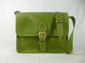 Leather Hand Stitched Satchel - shoulder bags