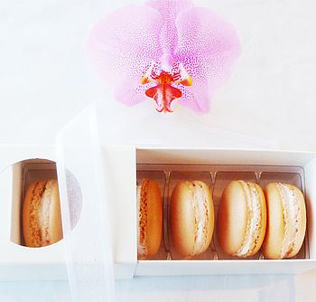 Box Of Six Champagne French Macarons